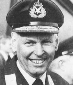 Alf Granviken like før han går av med pensjon i 1991 som generalløytnant etter 40 år i Luftforsvaret. Foto: Egil Eriksson, Faksimile fra Stavanger Aftenblad 30. april 1991.
