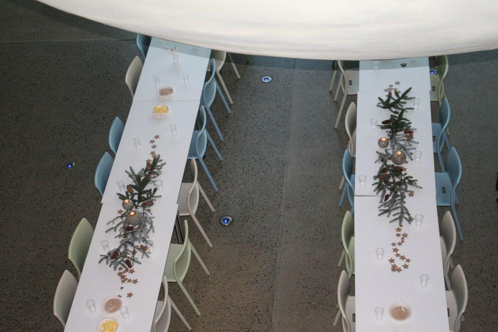 Pyntet og klart til servering av julegrøt