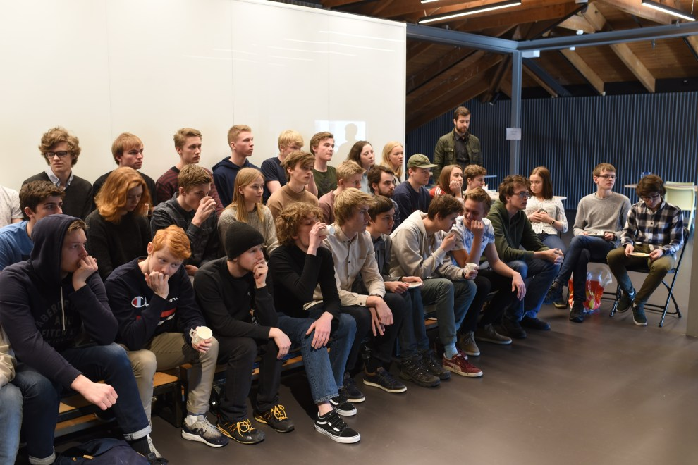 Spente elever før start. Foto: Torbjøen Moe Eggebø