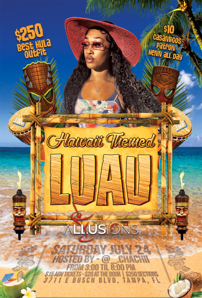 Hawaii Luau Theme - Custom Flyer