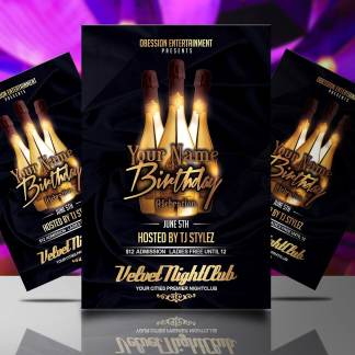Birthday Celebration Flyer Template
