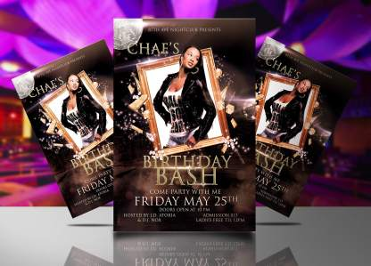 Chae's Birthday Flyer Template