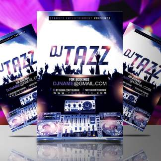 DJ Tazz Flyer Template