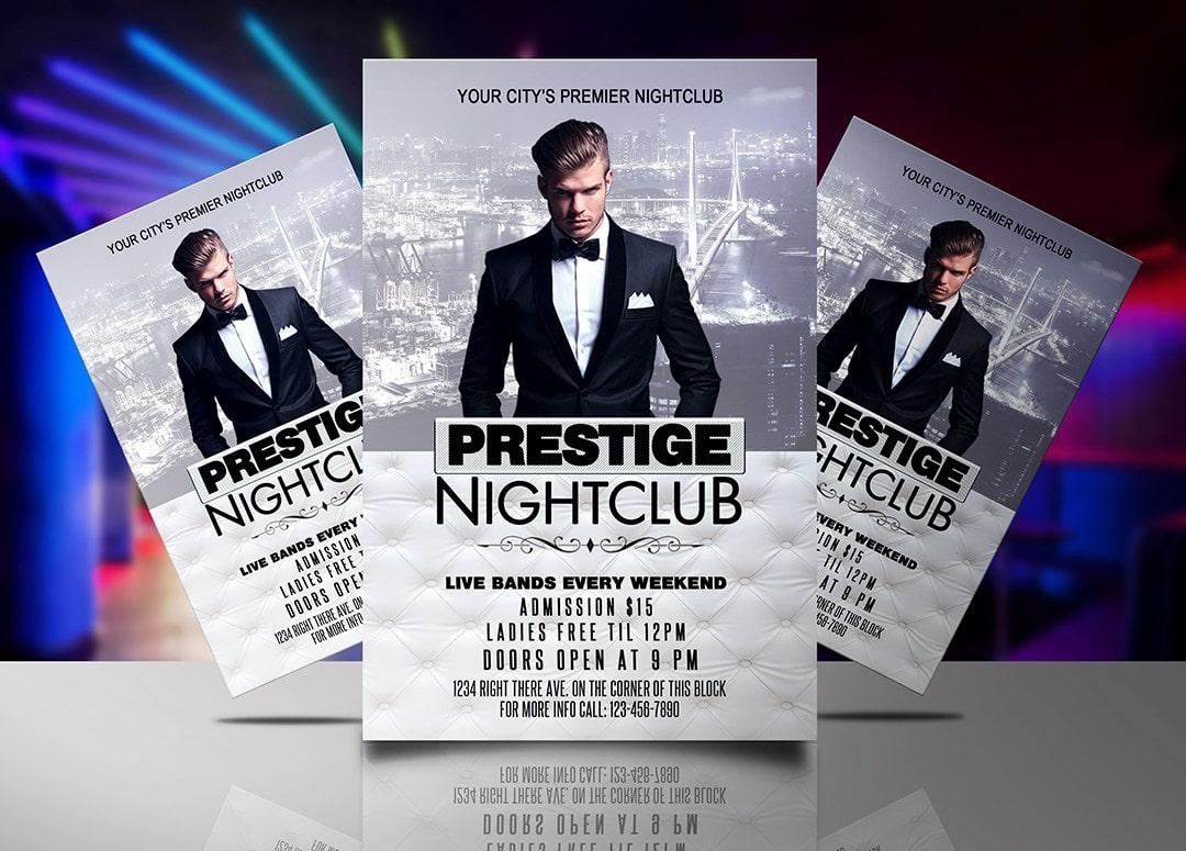 prestige night club flyer template jaf creative studios