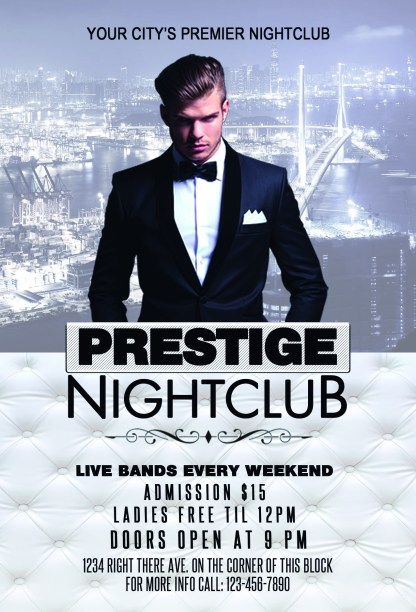 Prestige Night Club Flyer Template