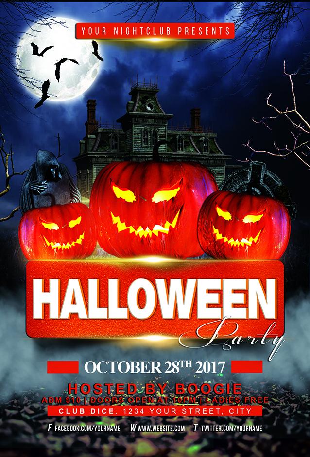 Halloween Party Flyer Template JAF Creative Studios - Halloween party flyer template