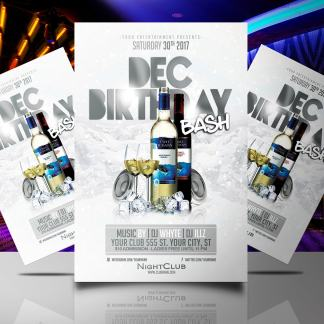 December Birthday Bash Flyer Template