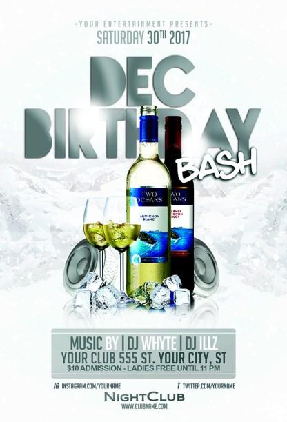 December Birthday Bash Flyer Template