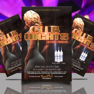 Friday Club Nights Flyer Template