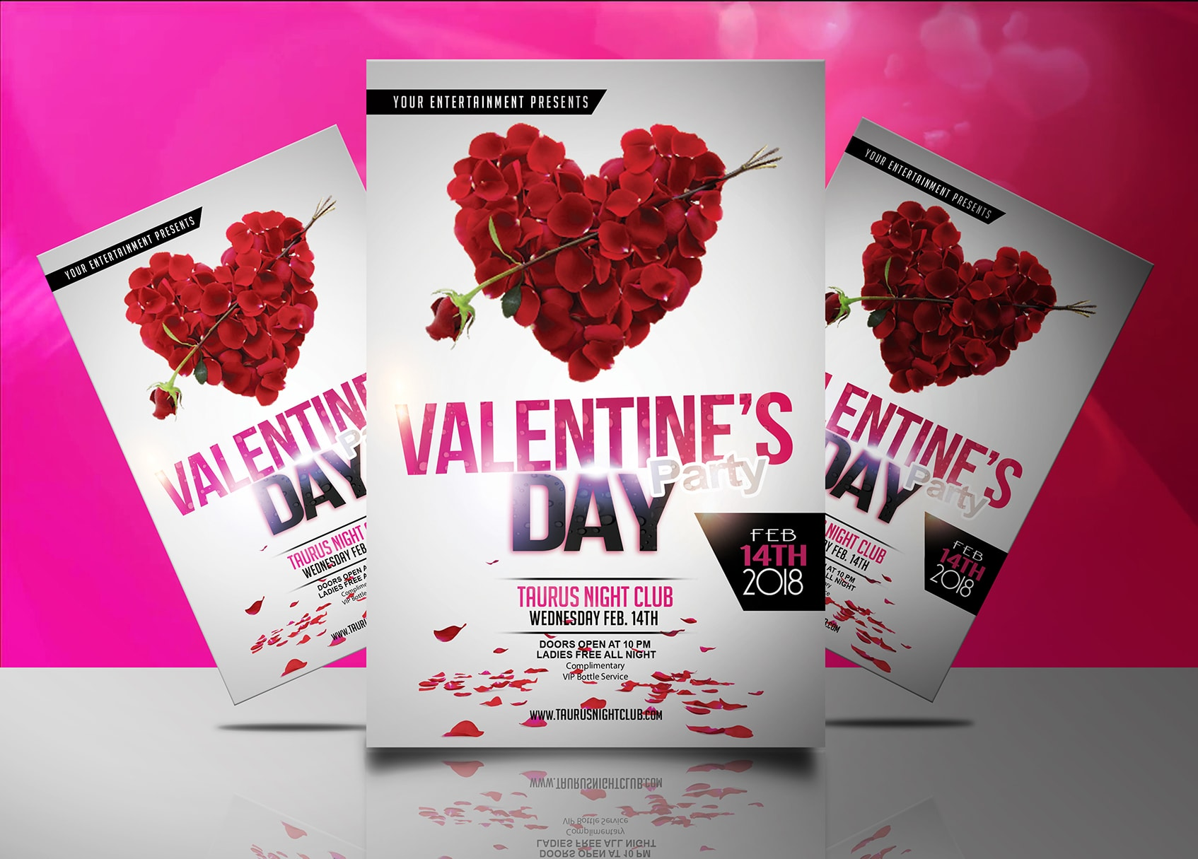Valentines Day Party Flyer Template Jaf Creative Studios