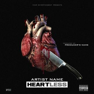 Heartless Single Cover Template