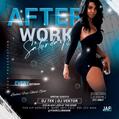 After Work Saturdays Flyer Template