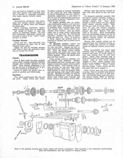 small resolution of jag lovers brochures an xk150 service pagealso the xk150 wiring diagram lower page 8