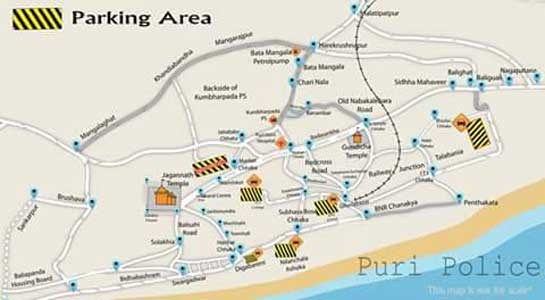 parking areas in puri town