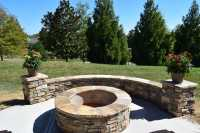 Charlotte Screen Porch & Patio with Stone Fire Pit | Lake ...