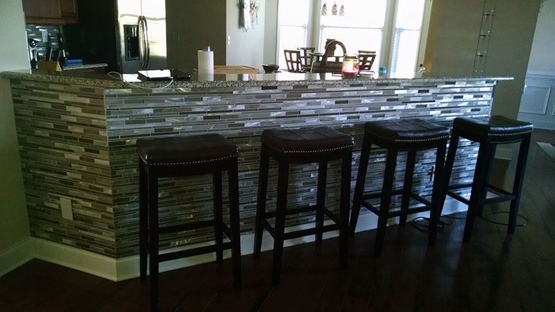 Charlotte NC Kitchen Tile Bar Backsplash Renovation  Lake Norman Mooresville area Screen