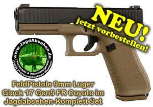 FeldPistole Kurzwaffe G17 Gen5 FR Coyote bei Jagdabsehen NEU