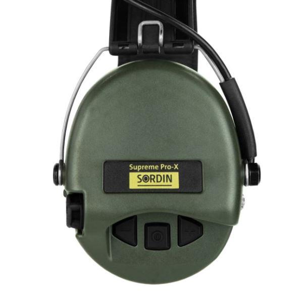 Gehörschutz Sordin PRO-X mit Gelkissen und LED bei Jagdabsehen 4