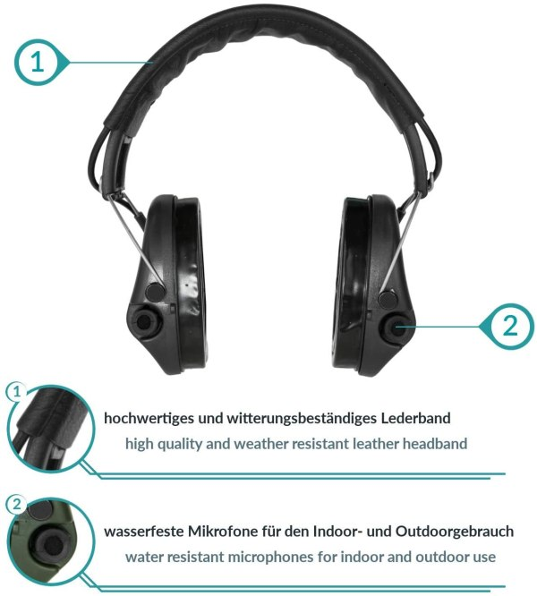 Gehörschutz Sordin PRO-X mit Gelkissen bei Jagdabsehen 2