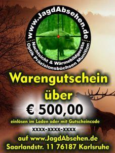 Gutschein Wald Warengutschein bei Jagdabsehen für jeden Anlass