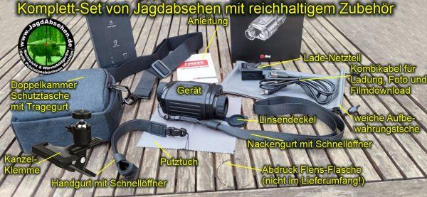 Jagdabsehen KanzelSet Wärmebildhandgerät Infiray Laser Finder 25R mit 600m Laser-Entfernungsmesser Komplett-Set