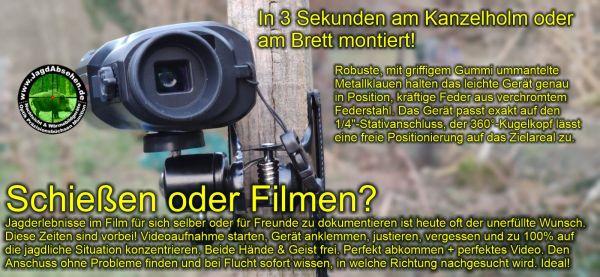 Jagdabsehen KanzelSet Wärmebildhandgerät Infiray Laser Finder 25R mit 600m Laser-Entfernungsmesser mit Kanzelmontage Jagderlebnisse perfekt auf Video