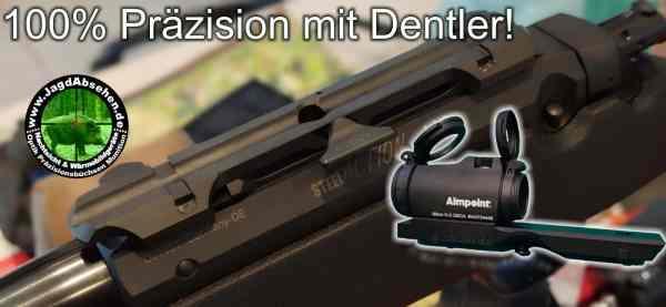 Pirsch&Drückjagd-Sonderpaket Repetierbüchse STEEL ACTION incl Dentlermontage incl Aimpoint Micro H2 von Jagdabsehen 3