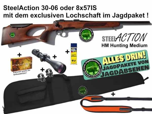 Steelaction HM Lochschaft Alles-drin+JagdPaket von Jagdabsehen