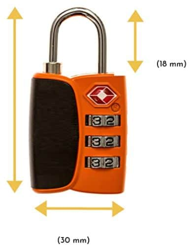 TSA-Gepäckschloss bei Jagdabsehen