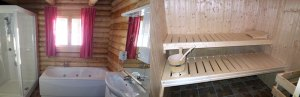 Blockhaus Luxus Bad Sauna