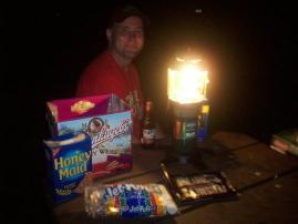 Nick and his Coleman Lantern