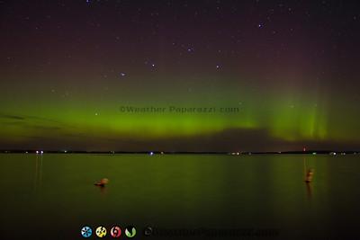 Lake Osakis Aurora Borealis by Douglas Kiesling