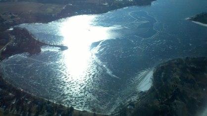 Thin ice on Lake Latoka, mn