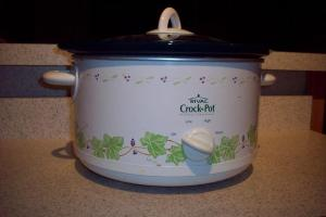 oval slow cooker or crock pot
