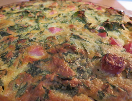 Easy Spinach Egg Bake
