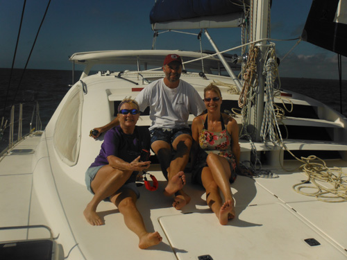 Having fun on a sailboat in Belize