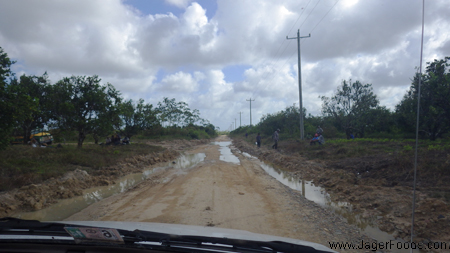 Getting stuck on the Monkey River Road