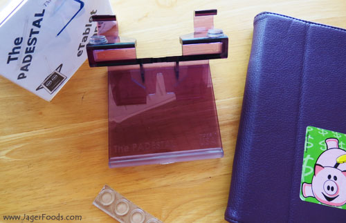purple eTablet stand