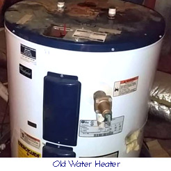 Old water heater to be replaced