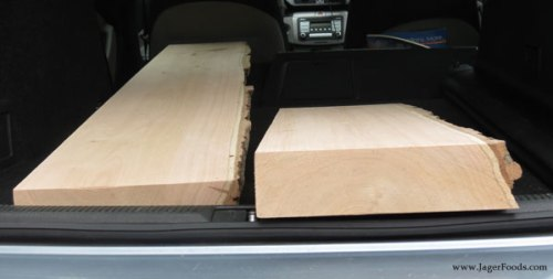 Red Oaks planks in the car