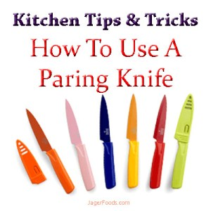 Kitchen tips and tricks.. how to use a paring knife
