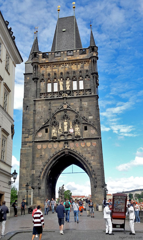 Entrance to the Charles Bridge In Prague
