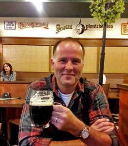 Greetings from Prague with Kozel beer in hand.