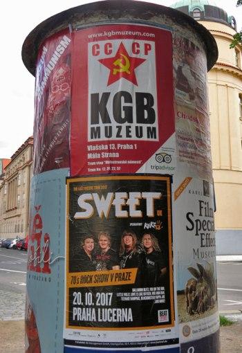 Advertising In Downtown Prague