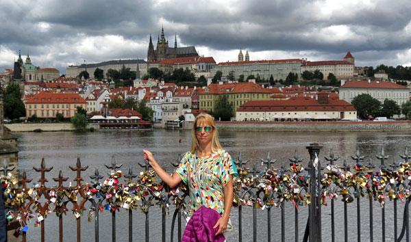 Downtown Prague along the river Vltava