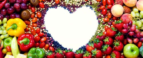 Healthy foods include fresh fruits and vegetables