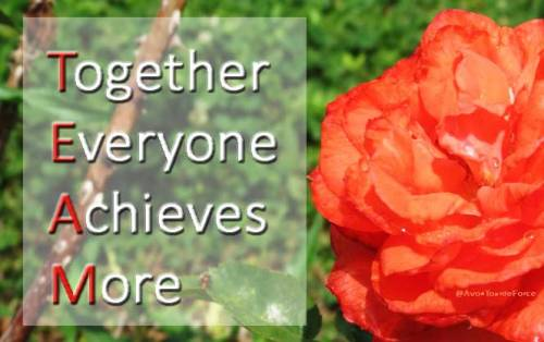 TEAM - Together Everyone Achieves More