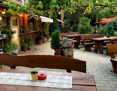 A beer garden in Germany.