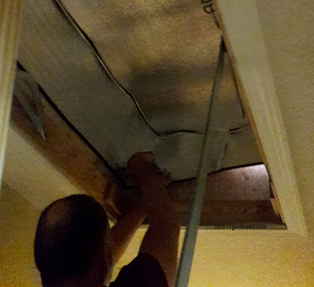 Installing a Whistler insulated attic stairs cover