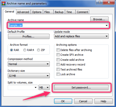 bagaimana mengunci file rar